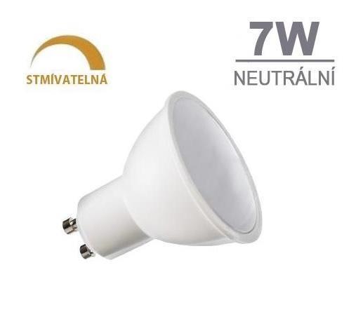 LED21 LED žárovka DIMMSTAR 7W 7xSMD2835 GU10 510lm neutrální bílá STMÍVATELNÁ