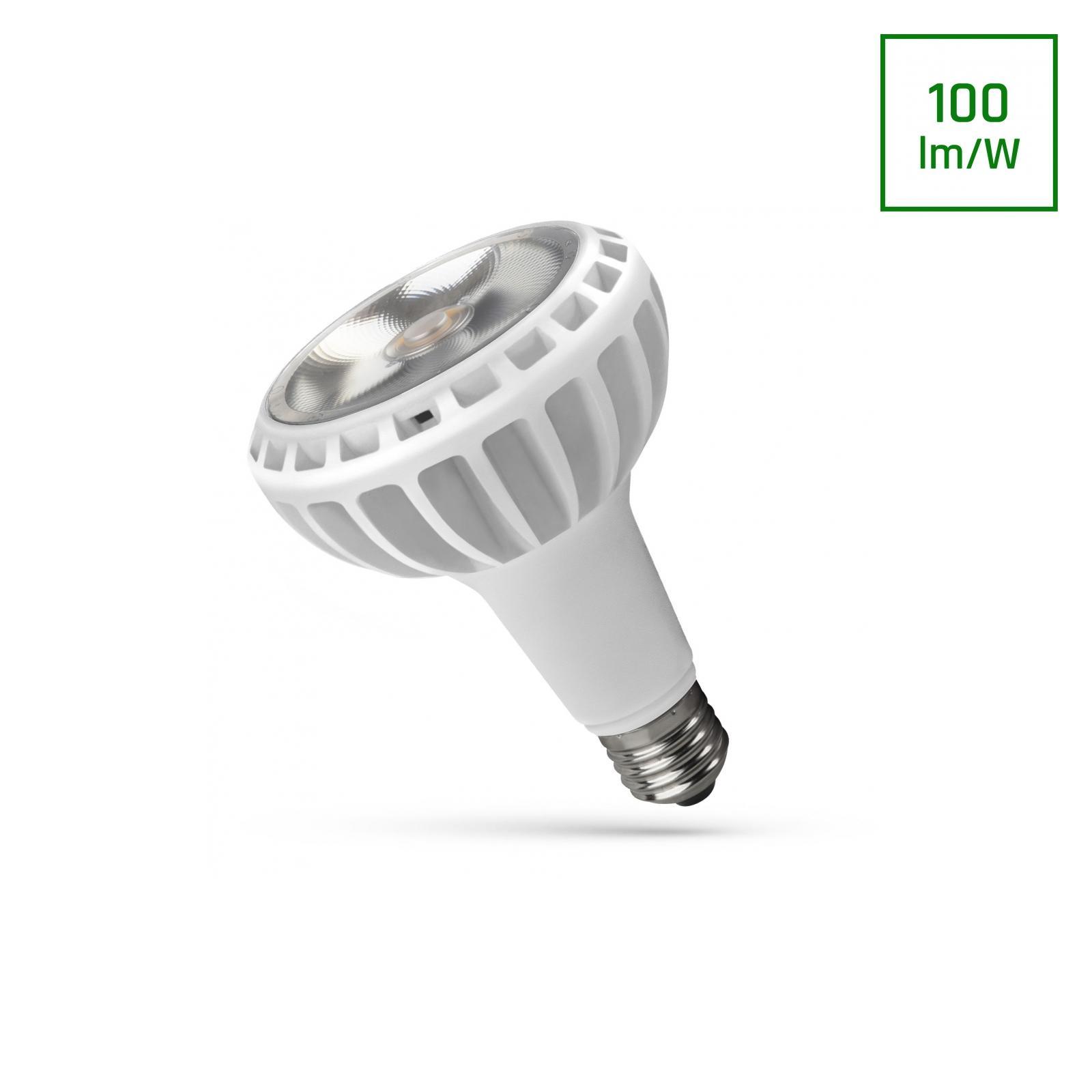 LED PAR30 E27 230V 20W COB 24ST Teplá bílá Bílá SPECTRUM