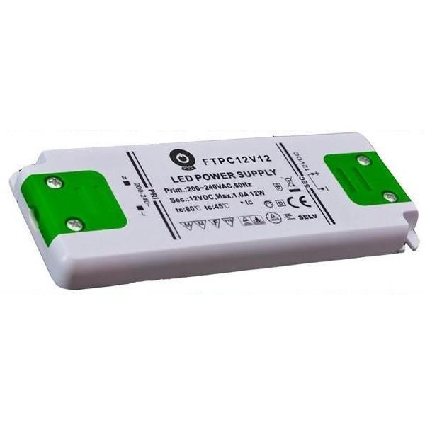 PREMIUMLUX Nábytkový LED napájecí zdroj FTPC12V12 12W 1A 12V LUX00263
