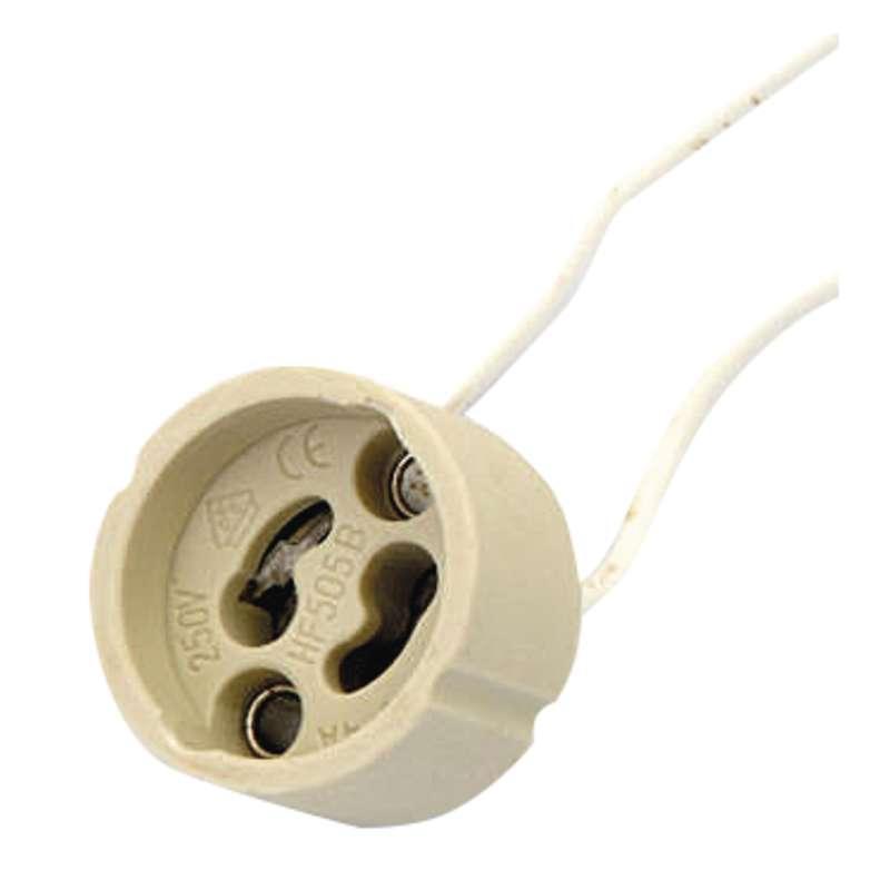Emos Objímka na žárovku GU10 keramická 250V/2A, bílá A2946