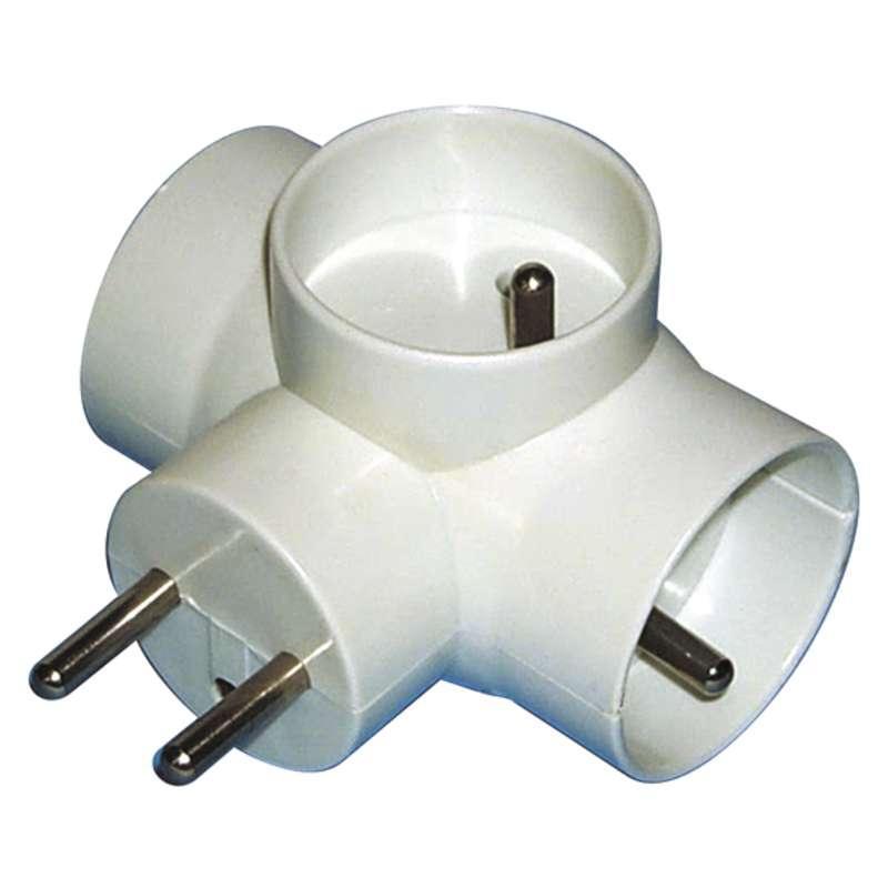 Emos Rozbočovací zásuvka 3× kulatá, bílá P0024