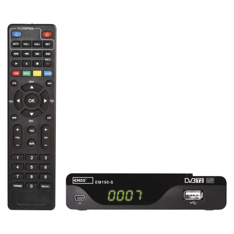 Set-top box EMOS EM190-S HD HEVC H265 (DVB-T2) J6014