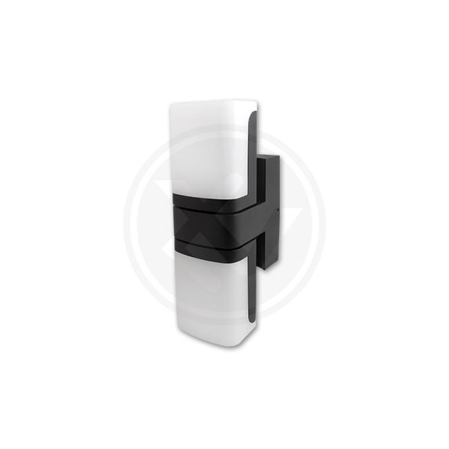 LED21 Přisazené nástěnné venkovní LED svítidlo Veroni Duo 13W, 600lm, černé, Neutrální bílá V0804