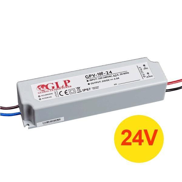 PREMIUMLUX Napájecí zdroj 100W 4A 24V DC, voděodolný / venkovní, Global Leader Power