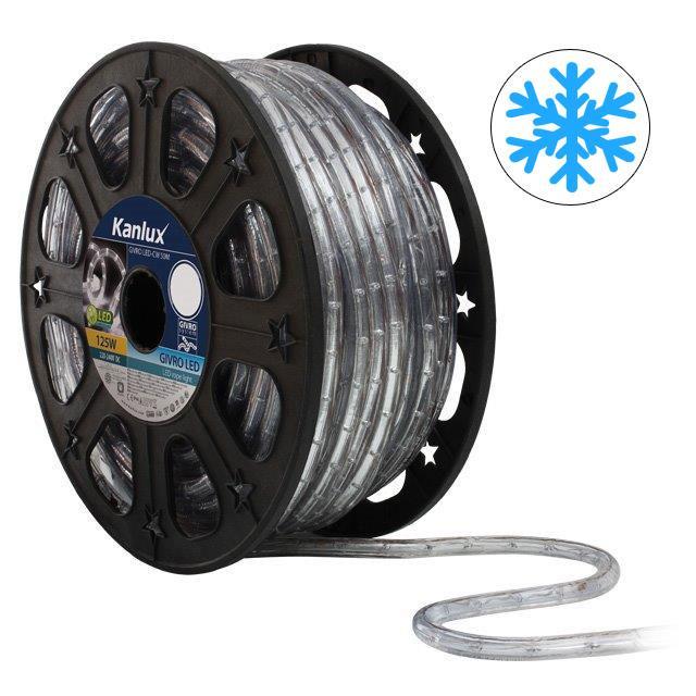 LED světelný had 50m GIVRO LED-CW Studená bílá Kanlux + Akce 08630_50m