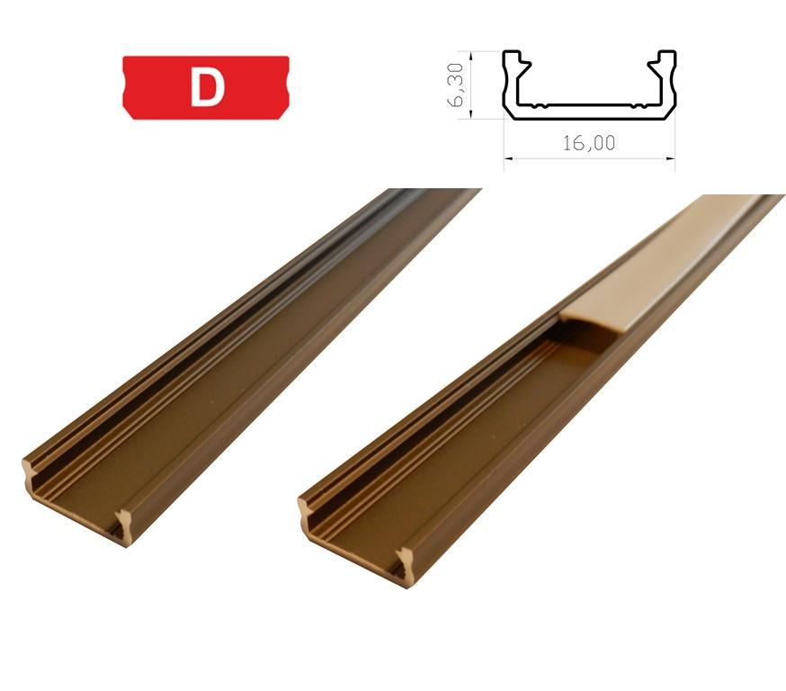 LEDLabs Hliníkový profil LUMINES D 1m pro LED pásky, inox
