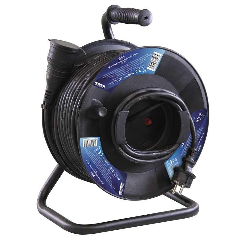 Emos Gumový prodlužovací kabel na bubnu – spojka, 50m, 1,5mm2 P08150