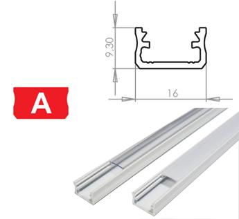 LEDLabs Hliníkový profil LUMINES A 2m pro LED pásky, bílý lakovaný