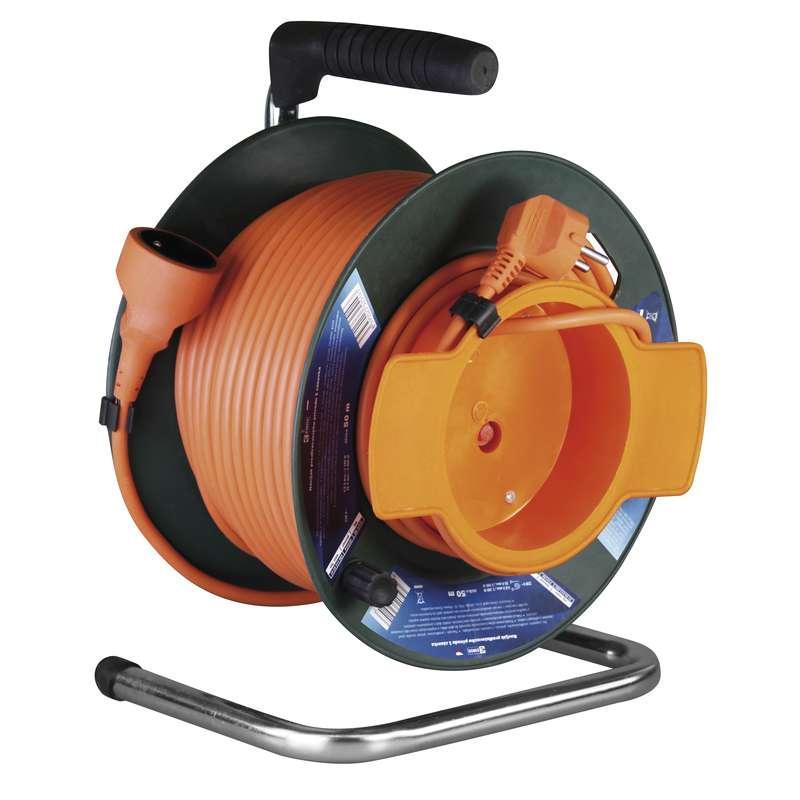 Emos PVC prodlužovací kabel na bubnu – spojka, 50m, 1,5mm2 P19150