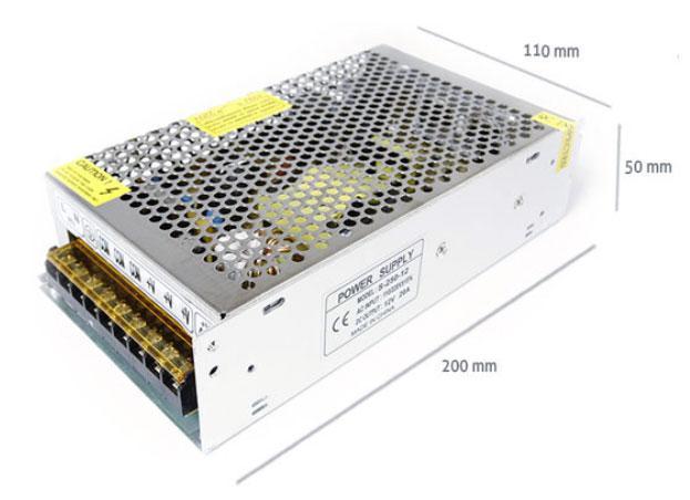 LED21 Napájecí zdroj 250W 20 A 12V DC BRG50028