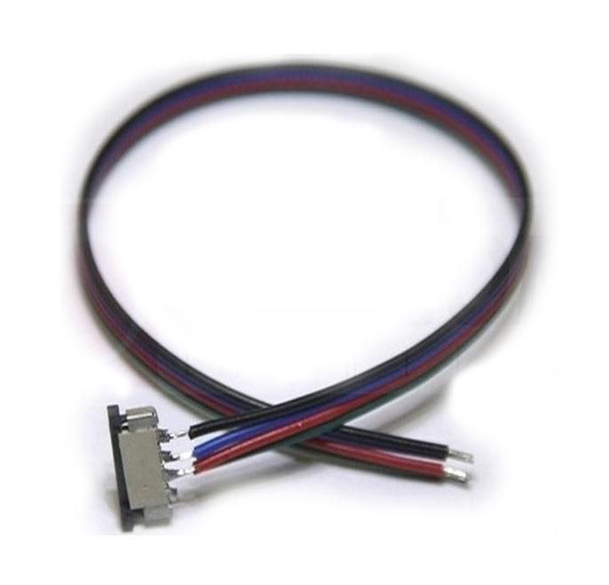 LED21 Konektor zasouvací pro RGB LED pásky o šířce 10mm s vodičem