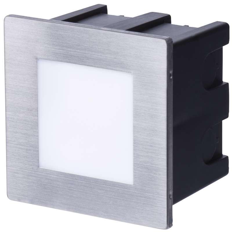 Levně Emos LED orientační vestavné svítidlo 80×80, 1,5W teplá bílá,IP65 ZC0109 ZC0109