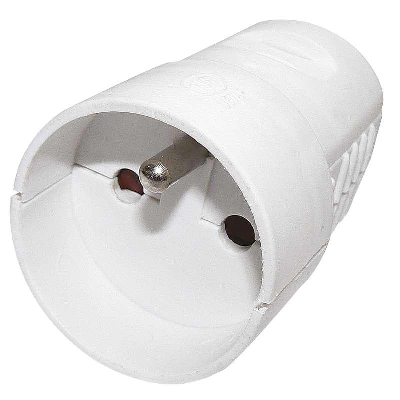 Emos Zásuvka pro prodlužovací kabel, bílá P0042
