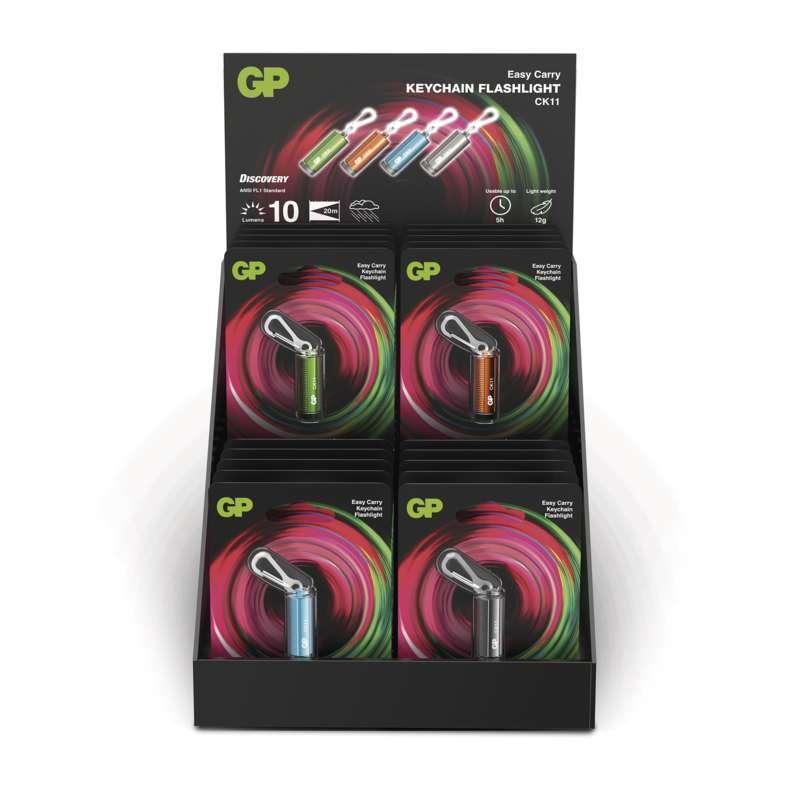 GP Batteries LED ruční svítilna GP CK11, 10 lm, 4× LR41, 20 kusů, 4 barvy P8501A