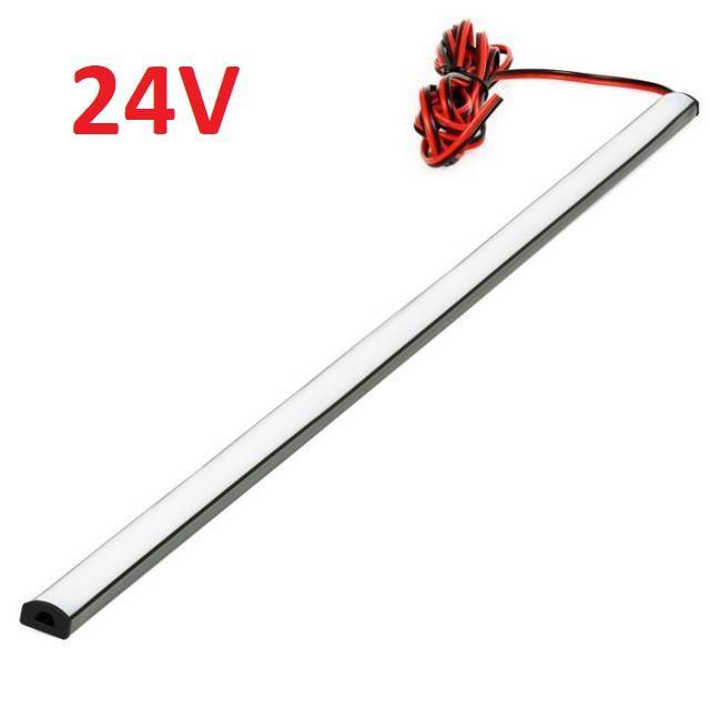 LED21 SADA 24V TIR elastický gumový profil s LED páskem SMD2835 Studená bílá, 100cm