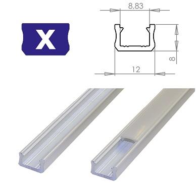 LEDLabs Hliníkový profil LUMINES X 2m pro LED pásky, bílý